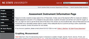 Assessment Instrument Information